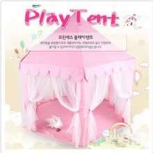 Child House Foldable Soft  Polyester Six Large Angle Princess Castle Pink Hut For Children Children's Play Pool Balls Cubby Hot