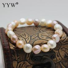 Buy YYW Newest Baroque Style Multi-color Freshwater Cultured Pearls Charm Bracelet Women Fashion Pearl Jewelry Free for $4.05 in AliExpress store