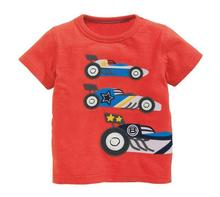 6pcs/lot New Baby girls T shirts kids children short sleeve racing singlet boys tops tee shirts 2-7T sylvia 543348537533(China)