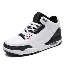 2017 basketball retro shoes 3 sports mens leather sneakers white black breathable low walking trainers outdoor - TP sneaker Store store