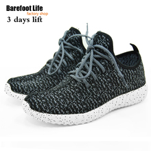2016 new black color sport shoes woman and man,new idea computer woven breathable sneakers woman & man,comfortable shoes(China)