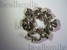 free shipping2012 fashion ABS 6mm silver plastic spike studs rivets hand sewing on nailhead DIY jewelry accessories 2000pcs/lot