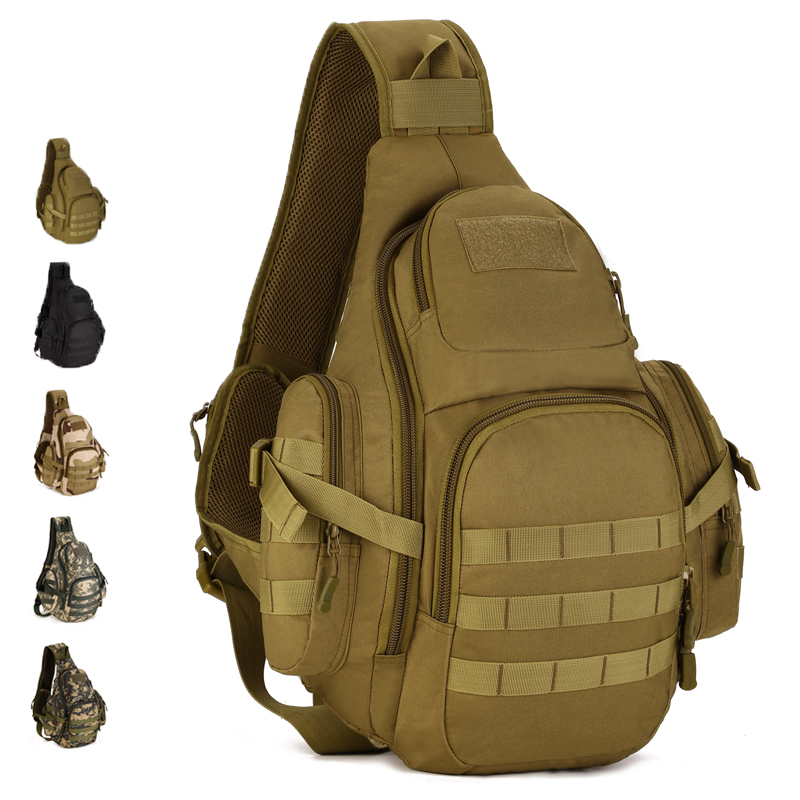 Men Durable Nylon Military Designer Messenger Single Shoulder Bag Laptop Travel Famous Assault Molle Sling Chest Back Day Pack<br>