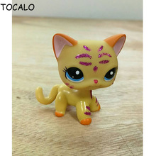 8cm LITTLEST PET Animals Collection LPS Figure For Girl Pet Shop Animal Doll Short Hair Cat DWA264