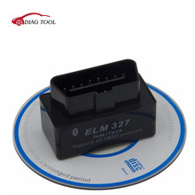Free shipping Black Super MINI ELM327 Bluetooth ELM 327 V2.1 OBDII / OBD2 Car Code Reader Diagnostic Scanner