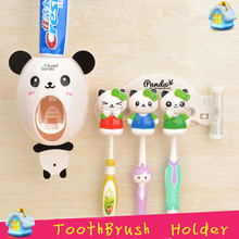 LIYIMENG Cartoon Multifunctional Toothbrush Holder Storage Orgainzer Box Bathroom Accessories Suction Hooks Tooth Brush Holder(China)