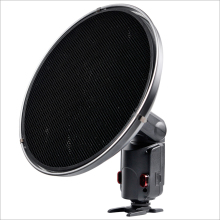 Godox AD-S3 Beauty Dish Reflector With Grid Honeycomb Cover for WITSTRO Speedlite Flash AD180 AD360