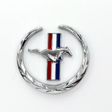 2016 Car-Styling Stickers Mustang Running Horse Fender Side Sticker Emblem Badge For Ford Mustang Shelby Decals Sticker Acessory