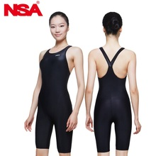 NSA professional competition italy fabric knee length women's training & racing swimwear girl's one piece competitive  swimsuits