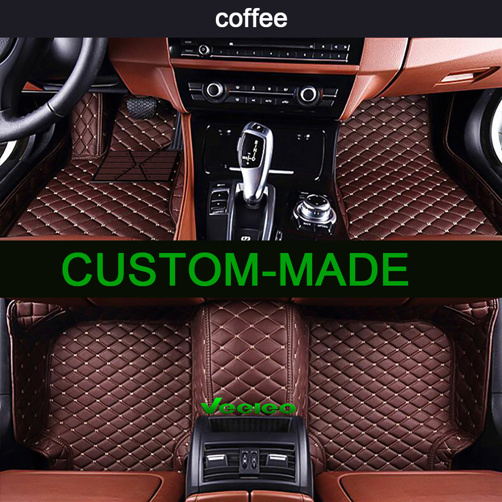 Custom Car Floor Mats for Subaru BRZ 2012-2017 Full Coverage All Weather Protection Waterproof Non-Slip Leather Liner Set