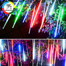 Coversage 50CM Meteor Shower Rain Tube SMD 3528 5Pcs Waterproof Decorative Outdoor Garland Fairy Christmas Tree Navidad Lights(China)