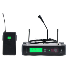 UHF Professional Wireless Microphone System With Bodypack Transmitter Instrument Gooseneck Mic Guitar Saxophone Brass Woodwinds