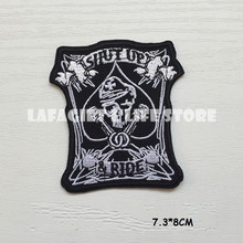 3pc Ghost Rider LOGo Patches for Clothing Jacket Bag punk Motorcycle HAT Applique Garment Iron Sew on patch Vest sticker