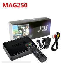 High Quality Mag250 IPTV Box with USB WIFI Adapter liunx OS mini iptv box MAG 250 not include IPTV channels account set top box(China)