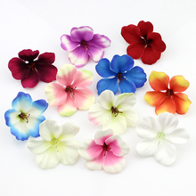 200pcs/lot spring Silk Orchid Artificial Flower heads ,Gladiolus Cymbidium Flowers for Wedding Decoration(China)