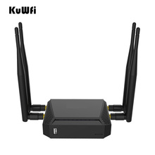 Kuwfi 3G/4G SIM Card Slot Wifi Router OpenWrt 300Mbps High Power Wireless Router Wifi Repeater with 4*5dBi Antenna Enhance wifi