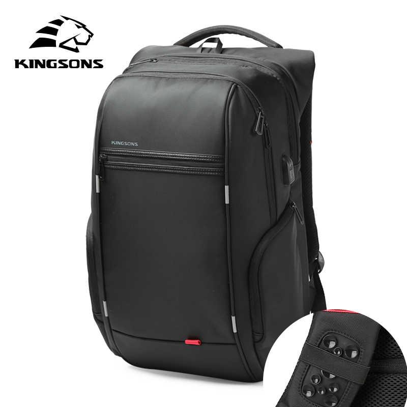 f327db031bcb Kingsons USB Charge Anti Theft Backpacks Men Travel Waterproof School Bags  College Teenager Male 13