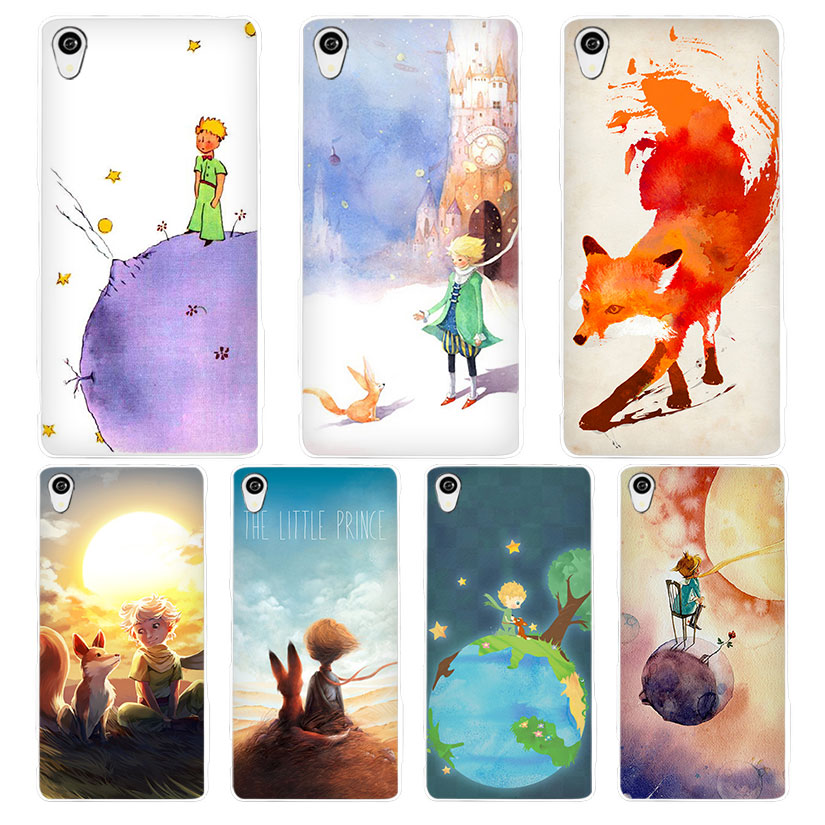 The Little Prince and the fox White Phone Case Cover for Sony Xperia Z1 Z2 Z3 Z4 Z5 M4 Aqua C4 XA XZ E4 E5 L36H(China)