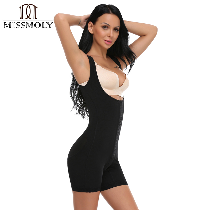 Miss Moly Seamless Traceless Butt Lifter Women Shaper Slimming Bodysuit Girdle High Quality Black Size S-3XL 5