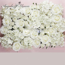 DIY artificial rose flower heads silk decorative flower hotel background wall decor 25pcs DIY Road led wedding flower Bouquet(China)