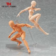 14.5cm Archetype He She PVC Action Figure Human Body Joints Male Female Nude Movable Dolls Anime Models For Figma Collections