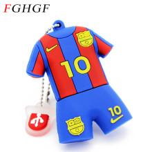 FGHGF Barcelona soccer Jersey Barca Messi pendrive usb flash drive 4GB 8GB 16GB 32GB football pen drive gift Free shipping(China)