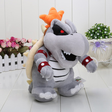 24cm Super Mario 3D Land Bone Kubah dragon Plush Toy Bolster plush soft stuffed dolls Dry Bones Bowser Koopa(China)
