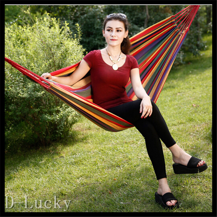 Hot Best-seller Big size 250 kg Load-bearing Portable Travel Sleeping Hammock for Outdoor Camping Picnic Hammock Home Furniture<br><br>Aliexpress