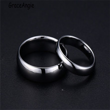 New Fashion Korean couple ring for women men Tungsten steel wedding jewelry US size 5-14 version of tungsten steel couple ring