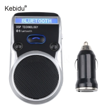 Kebidu Solar Powered Bluetooth HandsFree Car Kit LCD display Bluetooth Speakerphone Hand sfree Calling For Car(China)