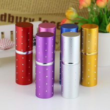 Colorful Aluminum Refillable Atomizer Empty Perfume Bottle Lady Gift 20ml plum blossom top quality