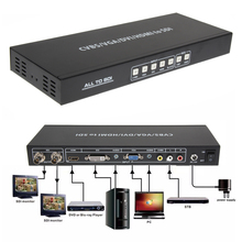 HDMI DVI VGA AV ALL To 2 Port 3G SDI Splitter Scaler Converter SDI Extended 100M 328FT with EU/US 12V/2.5A DC power adaptor