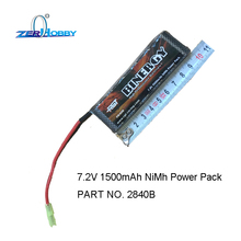 HSP RACING RC CAR SPARE PARTS ACCESSORIES RGT 2840B 7.2V 1500MAH NIMH BATTERY PACK FOR 1/16 SCALE BUGGY TRUCK 94185 94186