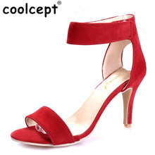Coolcept Women T-stage Classic Dancing High Heel Sandals Sexy Stiletto Party wedding Dress shoes Sandalias Size 33-42 PA00490(China)