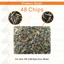 50pcs/lot ID48 auto transponder chip ID 48 Car Key Chip 48 glass tube for VW for AUDI for Passat for Skoda for Golf