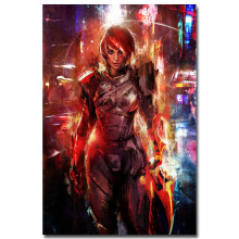 "Mass Effect 2 3 4 Hot Shooting Action Game Art Silk Poster Print 12x18 24x36"" Wall Pictures For Bedroom Living Room Decor 011(China)"