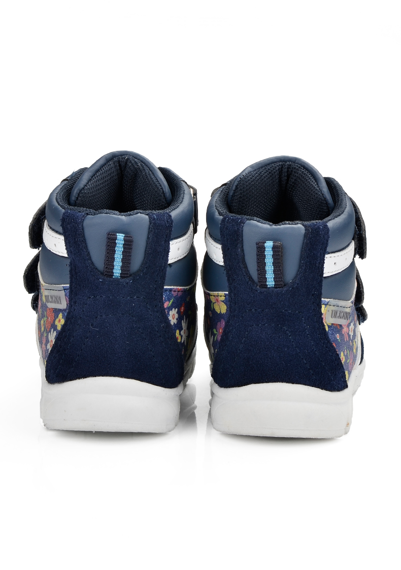 ULKNN Children Shoes For Girls Sneakers Massage Running Sport Shoes Genuine Leather Kids Sneakers Print Fashion Blue Size 20-25 (6)