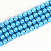 Sky blue Magnetic hematite natural stone 6mm 8mm 10mm diy jewelry hot sale loose beads 15 inches B253