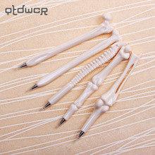 5PCS/set School Pen Writing Supplies Bone Shape Ballpoint Pens Wholesale New Creative Gift Office Stationery