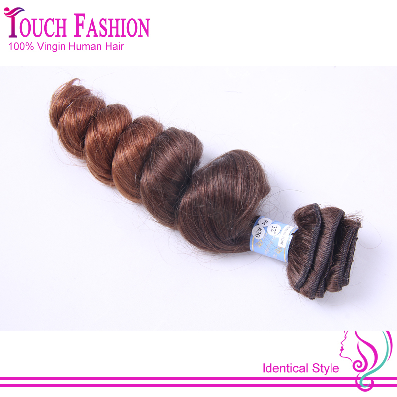 Grade 8A Human Hair Ombre Clip in Hair Extensions Two Tone Color #4/#30 Bouncy Curly Brazilian Ombre Clip ins Fast Shipping<br><br>Aliexpress