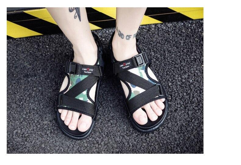 Slippers Men's Sandals Men's Summer Men's Sandals And Slippers Non-slip Beach Fashion Outdoor Wear Drag Trend 73 Online shopping Bangladesh