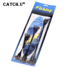 72pcs Kit Swivel Rope Wire Cord Thread Feeder Carp Fly Tackle Peche Spinner Set Stainless Steel Line Fishing Leader Snap