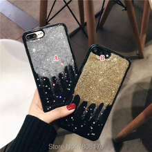 Bling Glitter Sparkle TPU Soft Case For Iphone 7 I7 6 6S Plus I6 Iphone7 Star Shiny Fashion Silicon Cell Phone Skin Cover 100pcs