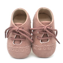 Baby Kids Soft Sole Moccasin Boys Girls Toddler Suede Leather Crib Shoes 0-18M