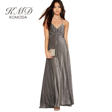 Buy KMD KOMODA Sexy Dress Women Clothing Silver Elegant Backless Shoulder Lace Vestidos Vintage Halter A-line Maxi Dresses for $13.99 in AliExpress store