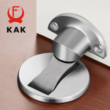 KAK Magnetic Door Stops 304 Stainless Steel Door Stopper Hidden Door Holders Catch Floor Nail-free Doorstop Furniture Hardware(China)