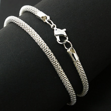 3mm 42cm buckle Chains Necklace Silver Plated Serpentine Necklace For Men Women Snake Chains Necklace Jewelry