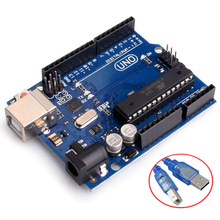 Buy UNO R3 ATmega328P ATMEGA16U2 Microcontroller Card Compatible Arduino Development Board USB Cable Diy Starter Kit CABLE for $6.12 in AliExpress store
