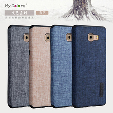 Case For Samsung Galaxy C9 Pro Woven fabric denim Cloth soft silicone Casing Luxury Full Protector Cover For Samsung C9 Pro