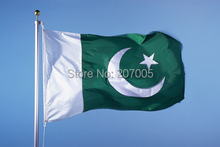 Free Shipping NEW  90x150cm  Pakistan Flag 100% Polyester 3x5ft Flag of  Pakistan
